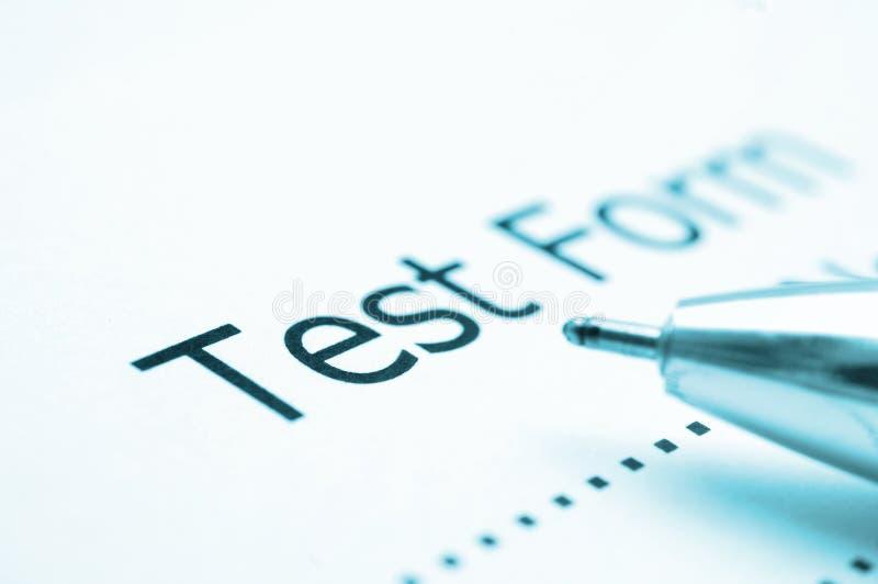 Test score sheet royalty free stock photography