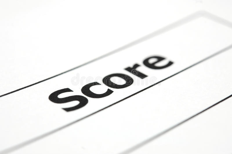 Test score sheet stock images