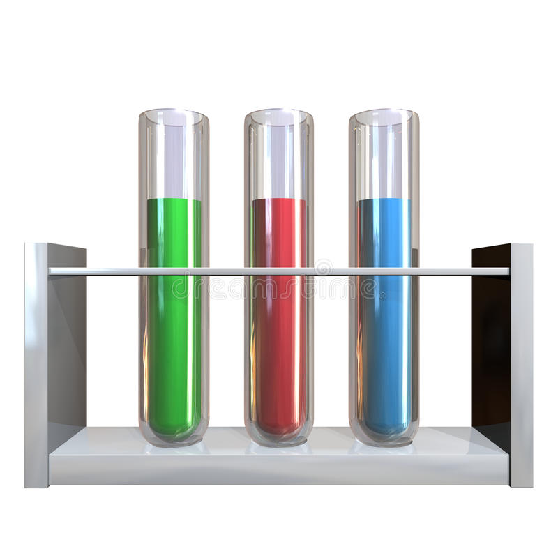 Test tube. 3d render image with test tube vector illustration