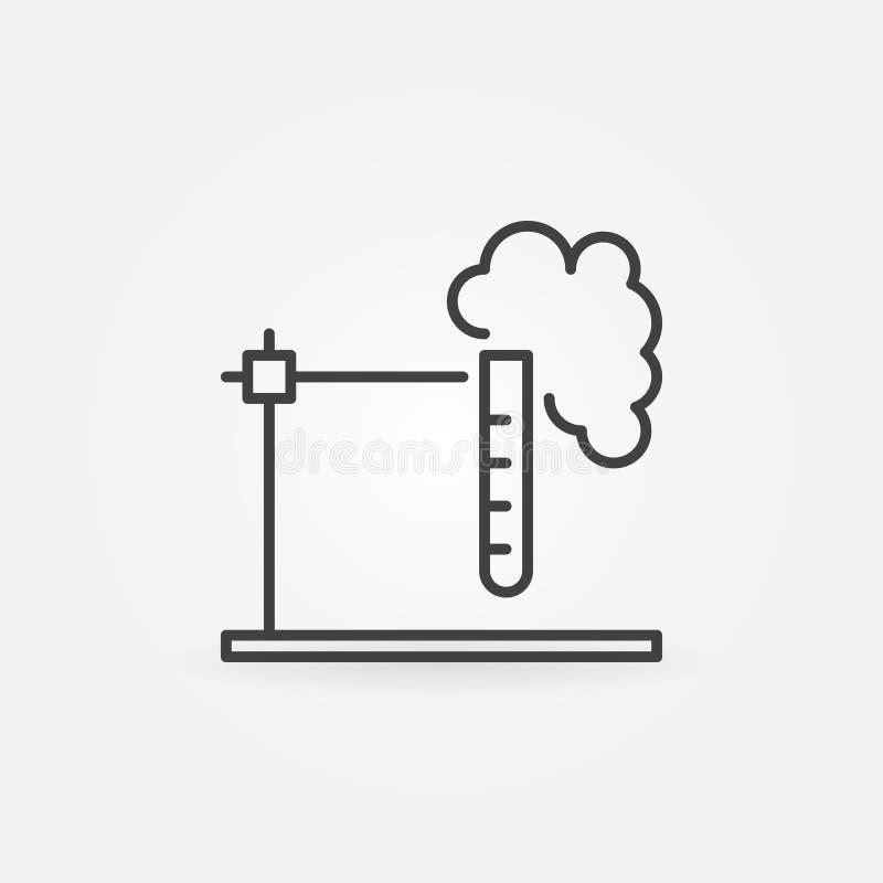 Test tube holder outline icon - vector chemistry concept sign vector illustration