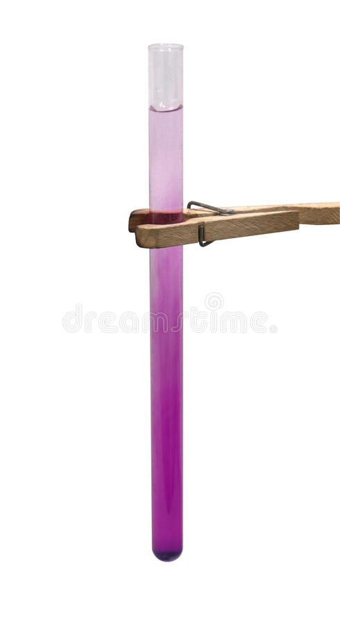 Test Tube And Holder In White Back Stock Image Image Of Accuracy