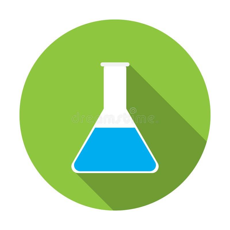 Test tube icon. On isolated background . flat design stock illustration