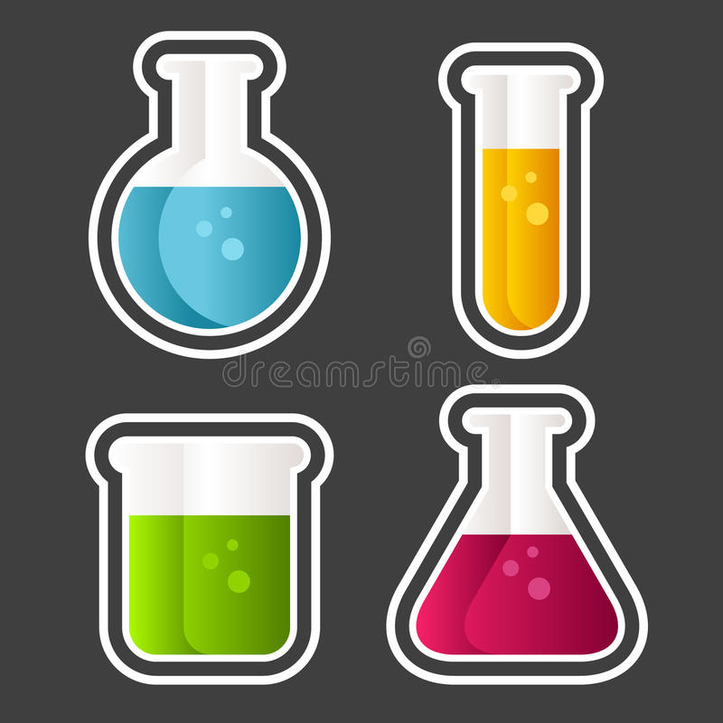 Free Test Tube Icons Royalty Free Stock Photography - 30382787