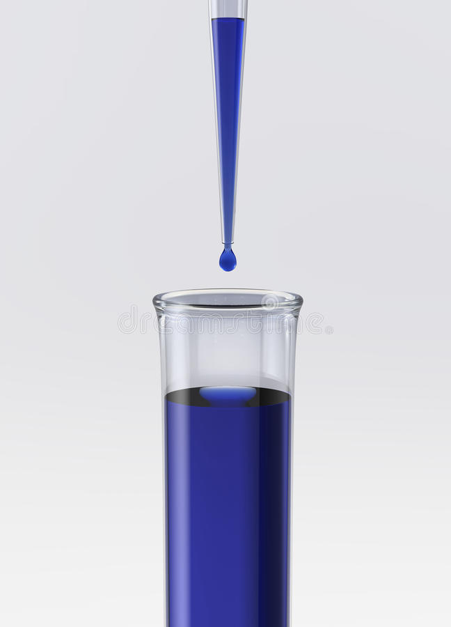 Download Test Tube With Pipette And Blue Liquid Stock Illustration - Image: 23811058