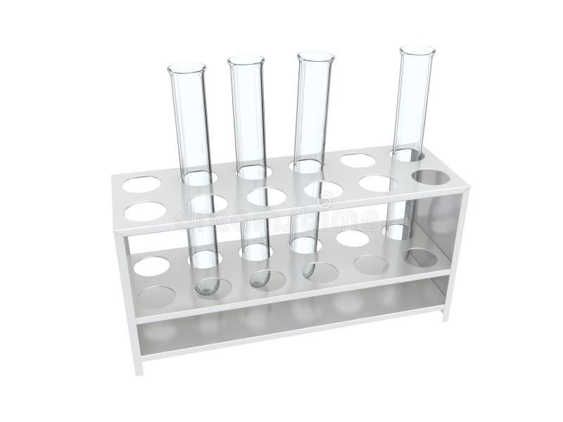 Test tube rack stock image