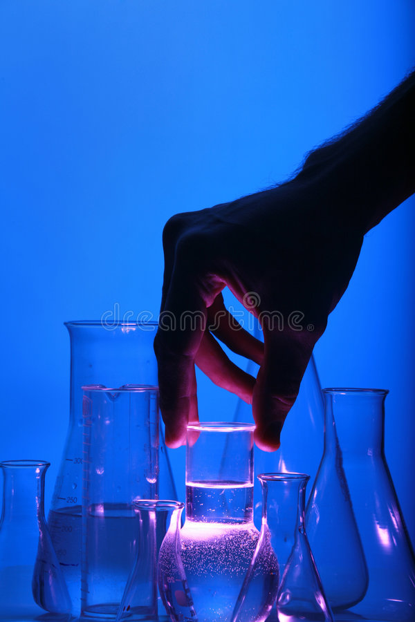 Test tube Scene royalty free stock images