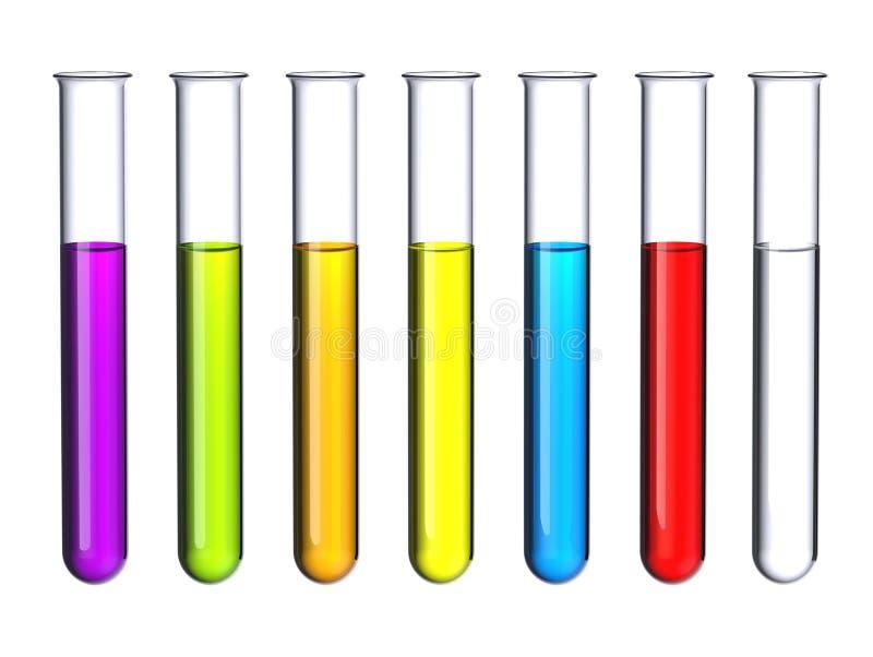 Test tubes. stock illustration