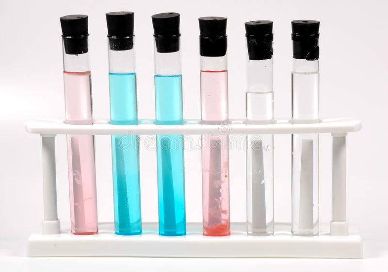 Test Tubes. In a Rack royalty free stock photos