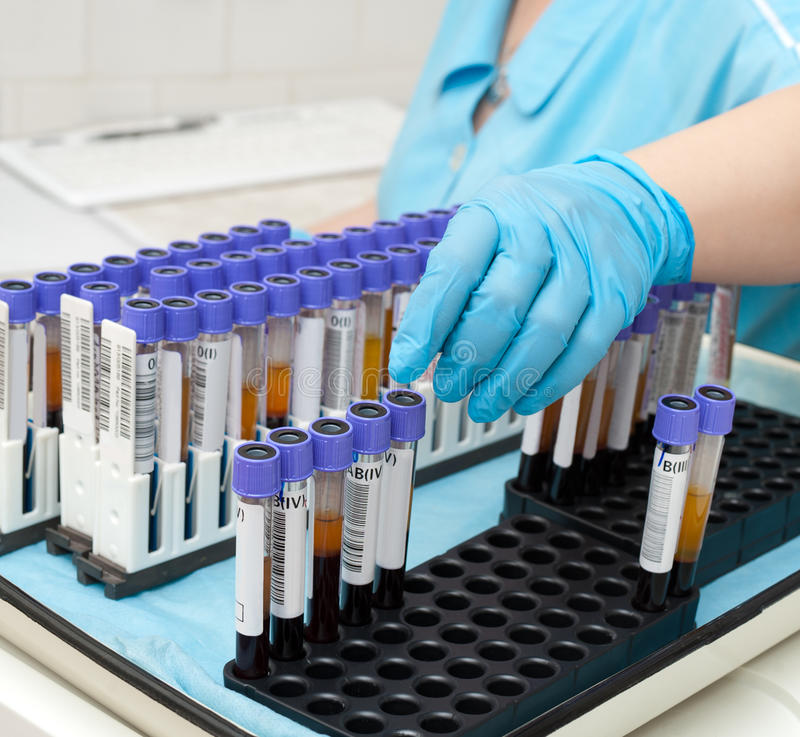 Test Tubes With Blood Royalty Free Stock Image