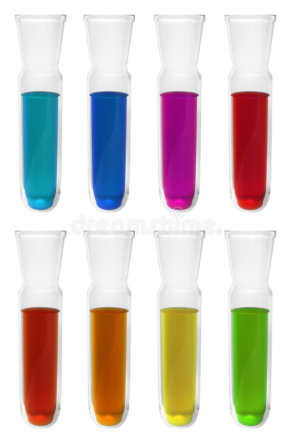 Download Test Tubes With Different Reagents Stock Illustration - Illustration: 6210985