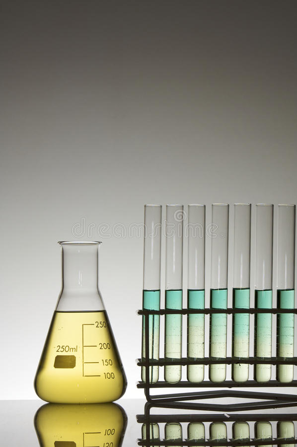 Download Test tubes and flask stock photo. Image of chemical, industry - 12739630