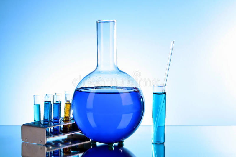 Download Test Tubes And Flask Stock Photo - Image: 17107400