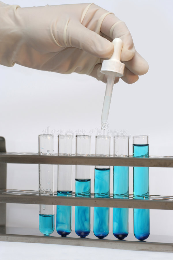 Test vials stock images