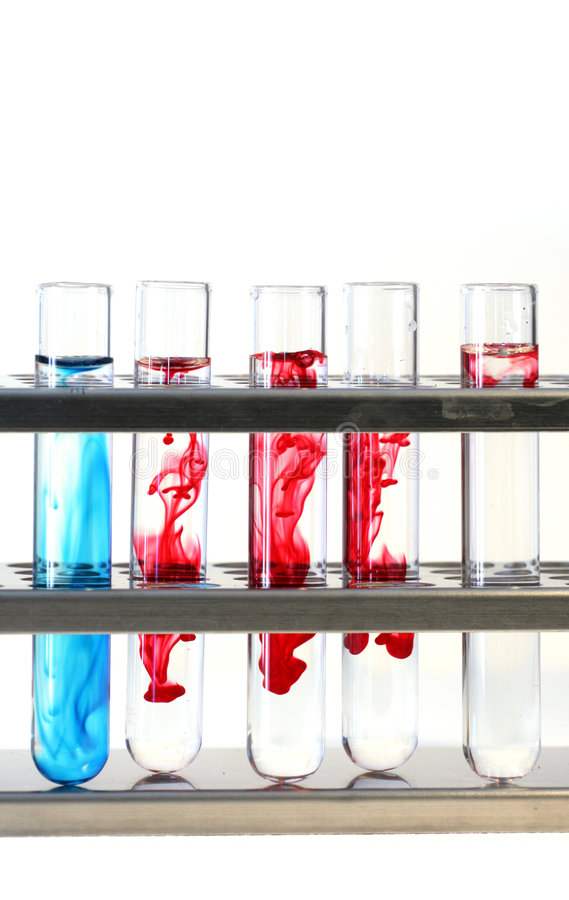 Test vials royalty free stock image