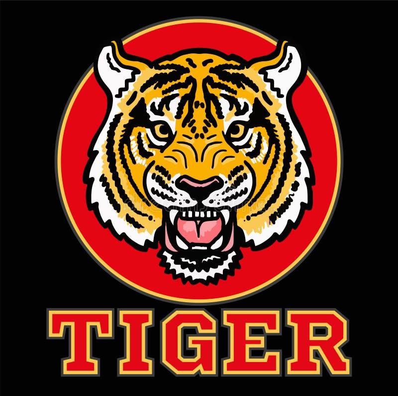 Testa arrabbiata della tigre royalty illustrazione gratis
