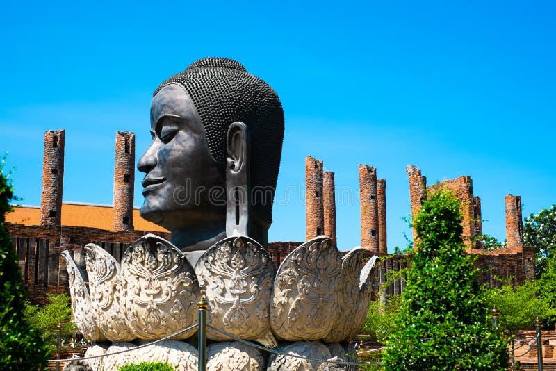 Testa Buddha Tailandia Ayuthaya fotografia stock libera da diritti