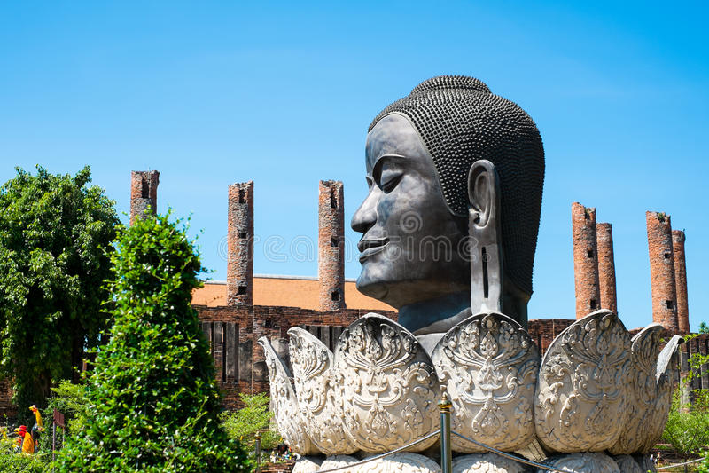 Testa Buddha Tailandia Ayuthaya immagine stock libera da diritti