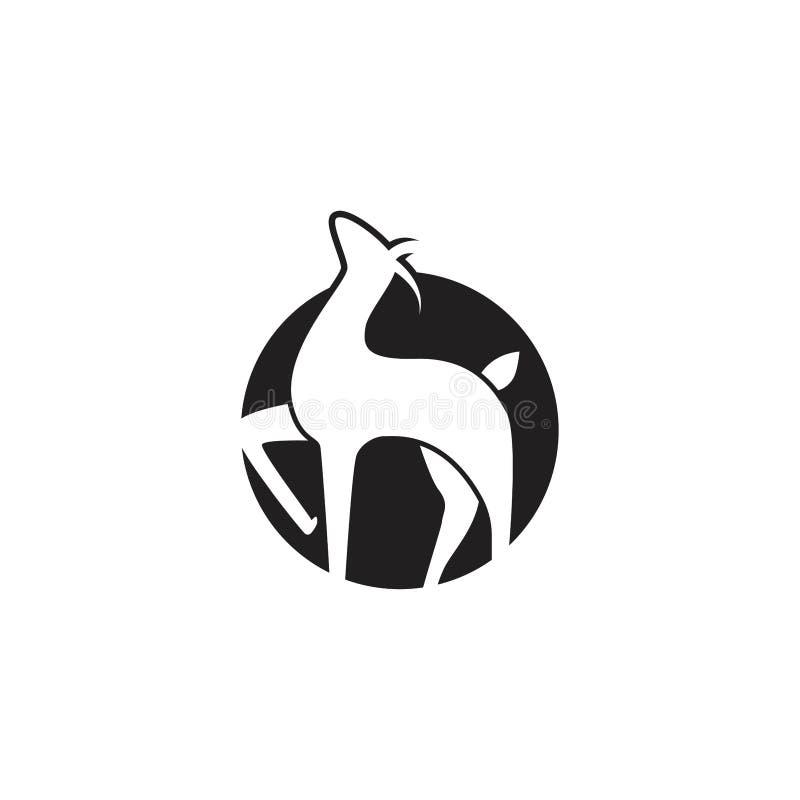 Testa dei cervi Modello di logo di vettore, cara Silhouette Logo royalty illustrazione gratis