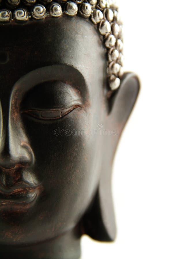 Testa del Buddha isolata fotografia stock