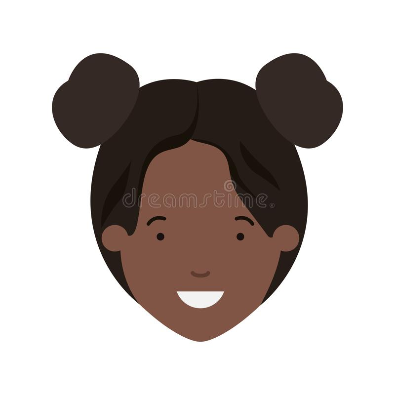 Testa del carattere dell'avatar di afro della donna royalty illustrazione gratis