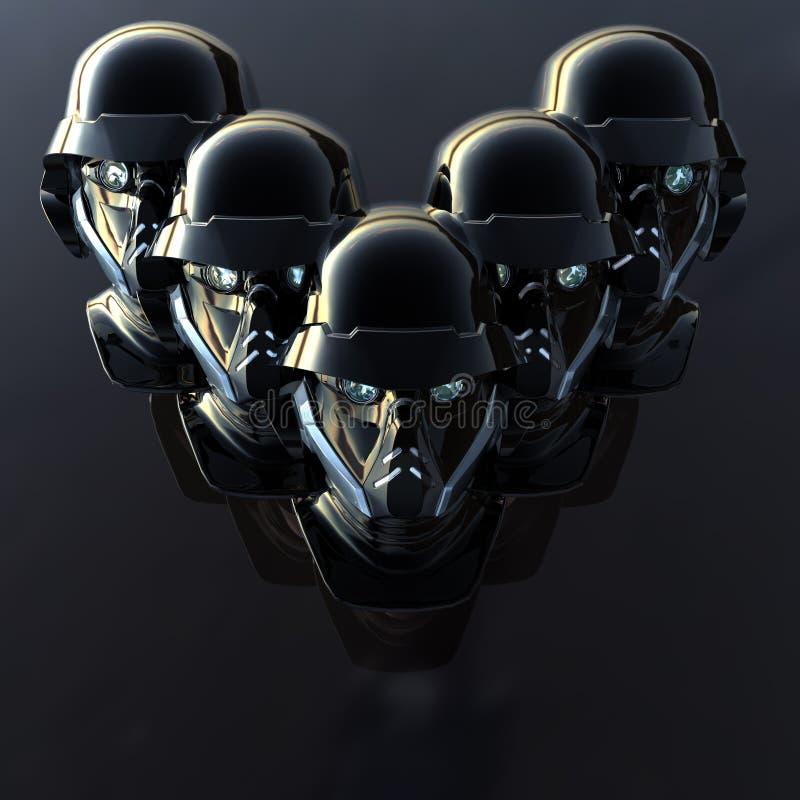 Testa del Cyborg royalty illustrazione gratis