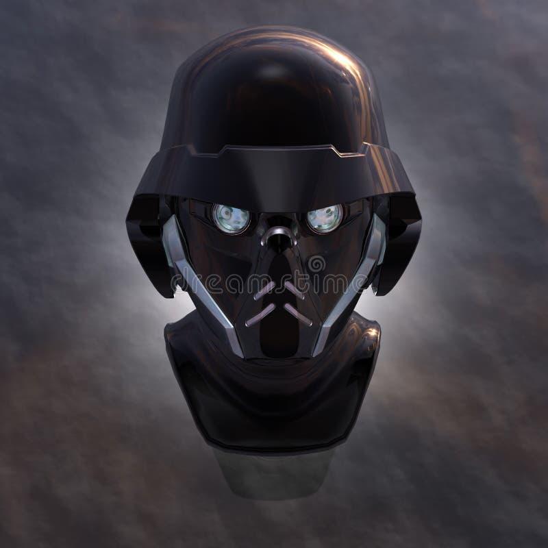 Testa del Cyborg illustrazione vettoriale