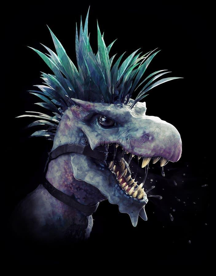 Testa del dinosauro illustrazione di stock
