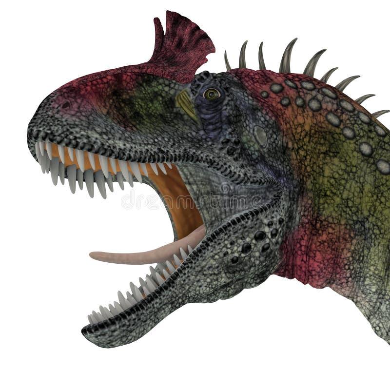 Testa del dinosauro del Cryolophosaurus royalty illustrazione gratis