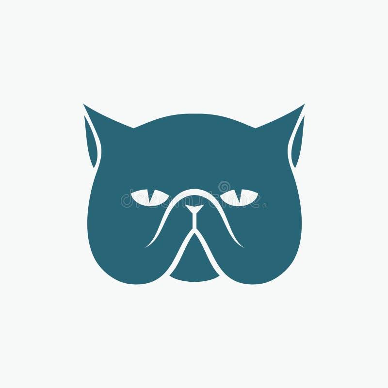 Testa del gatto persiano illustrazione di stock