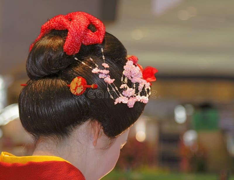 Testa del geisha fotografie stock libere da diritti