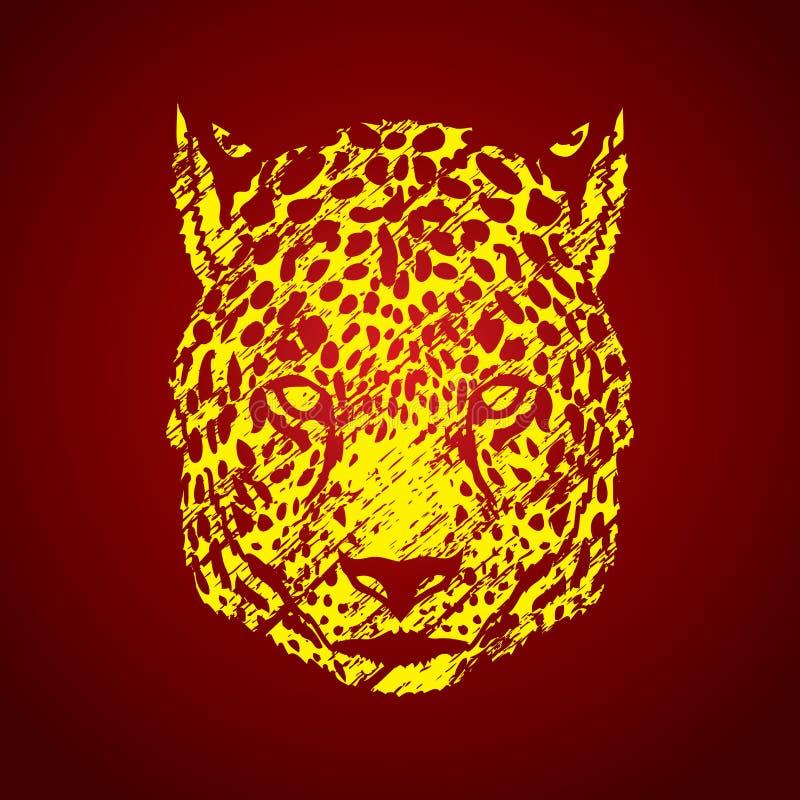 Testa del ghepardo illustrazione vettoriale