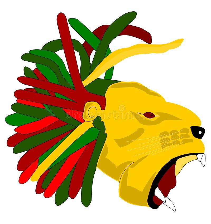 Testa del leone illustrazione vettoriale