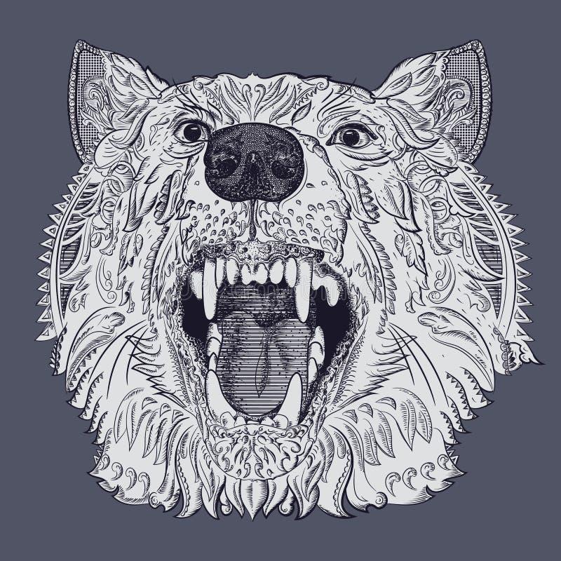 Testa del lupo royalty illustrazione gratis