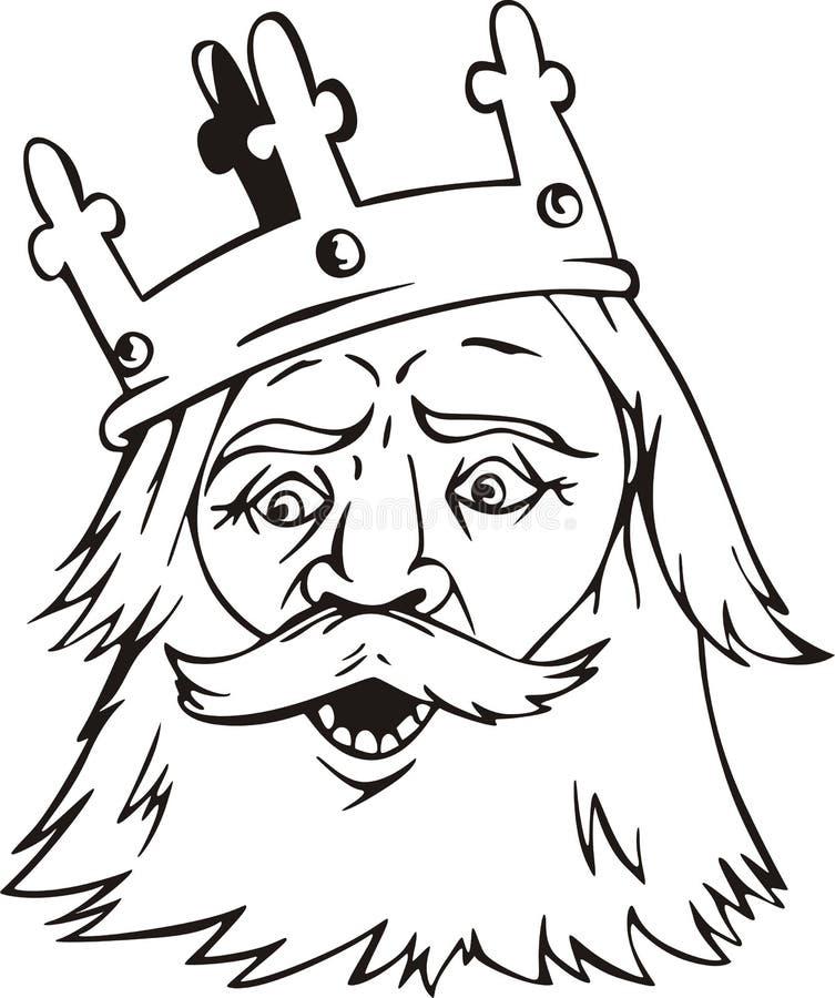 Testa del re illustrazione di stock