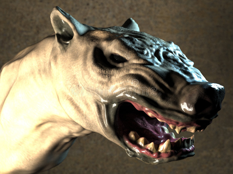 Testa del Werewolf royalty illustrazione gratis