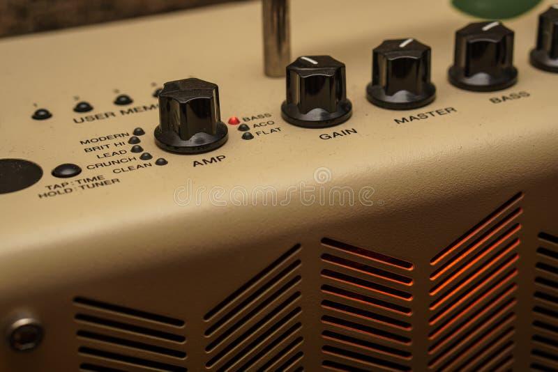 Testa dell'amplificatore della chitarra immagini stock