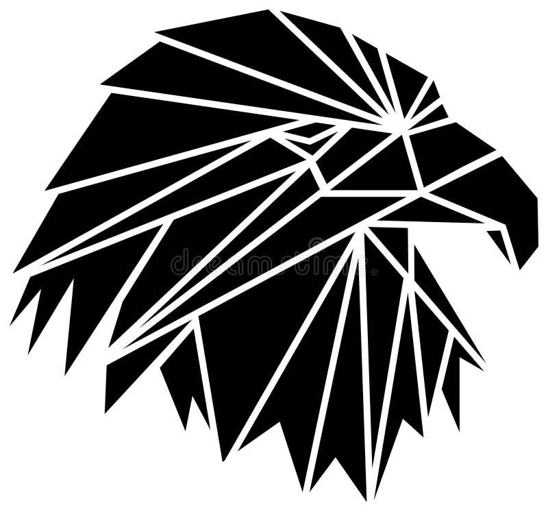 Testa dell'aquila illustrazione di stock
