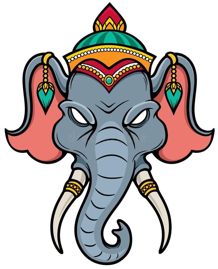 Testa dell'elefante illustrazione vettoriale