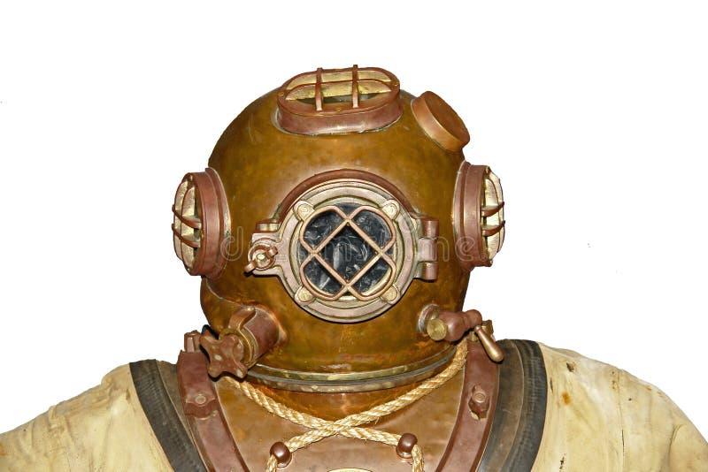 Testa dell'operatore subacqueo dell'annata fotografie stock