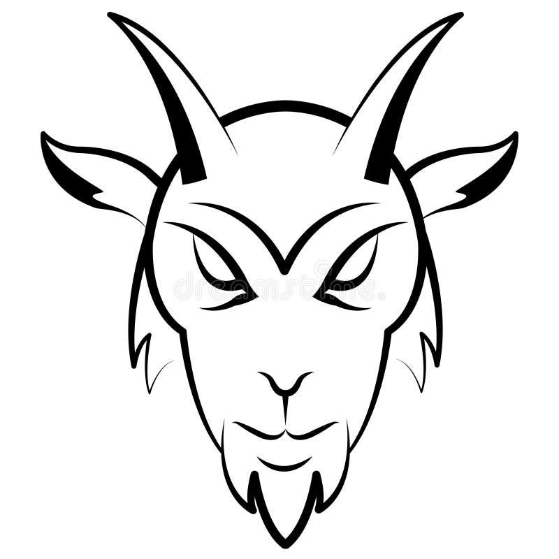 Testa della capra illustrazione di stock