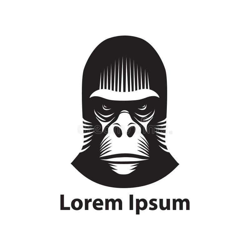 Testa della gorilla illustrazione vettoriale