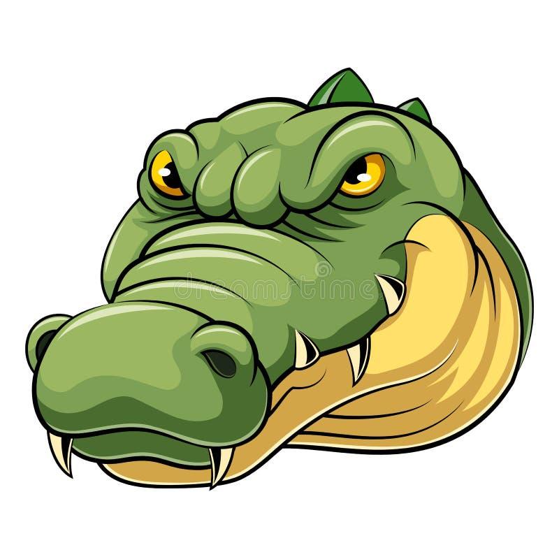 Testa della mascotte di un coccodrillo illustrazione di stock