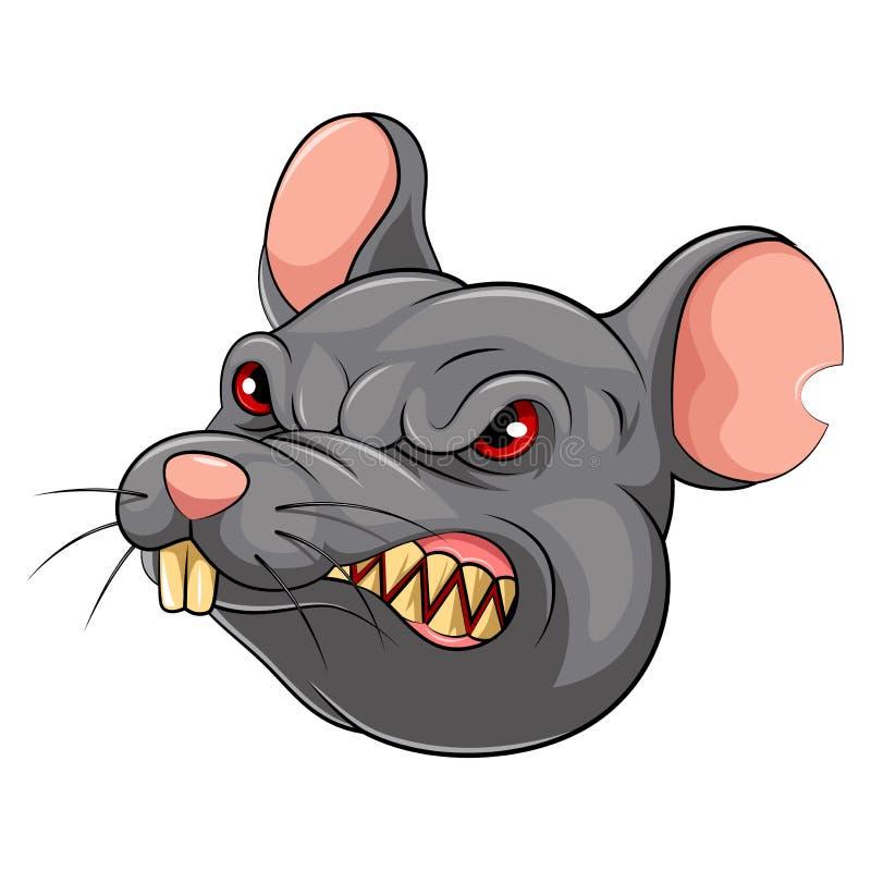 Testa della mascotte di un topo illustrazione vettoriale