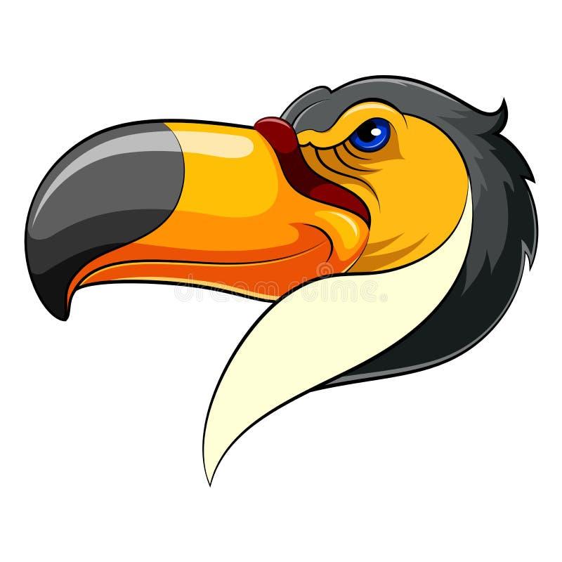 Testa della mascotte di un tucano illustrazione vettoriale