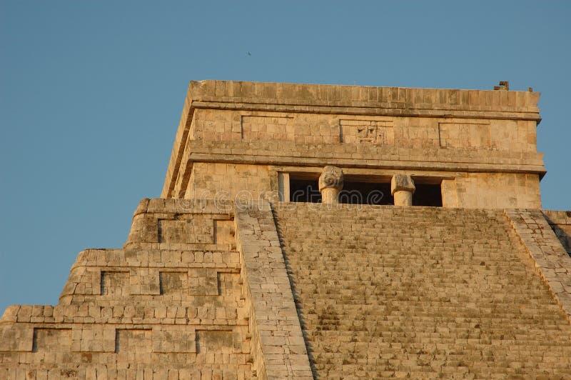 Testa della piramide di EL Castillo fotografie stock libere da diritti