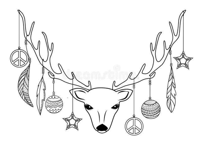 Testa della renna illustrazione di stock