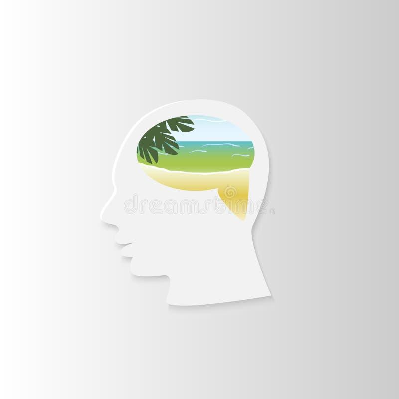 Testa della spiaggia fotografie stock