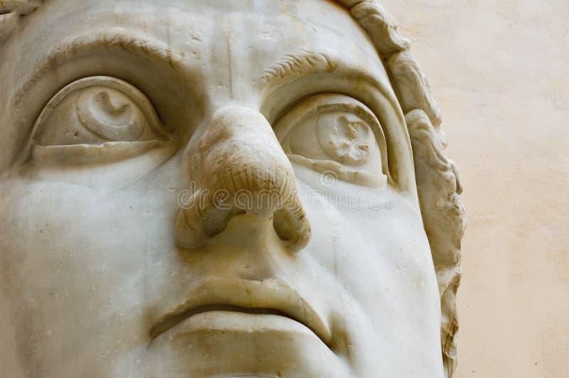 Testa della statua antica fotografie stock libere da diritti