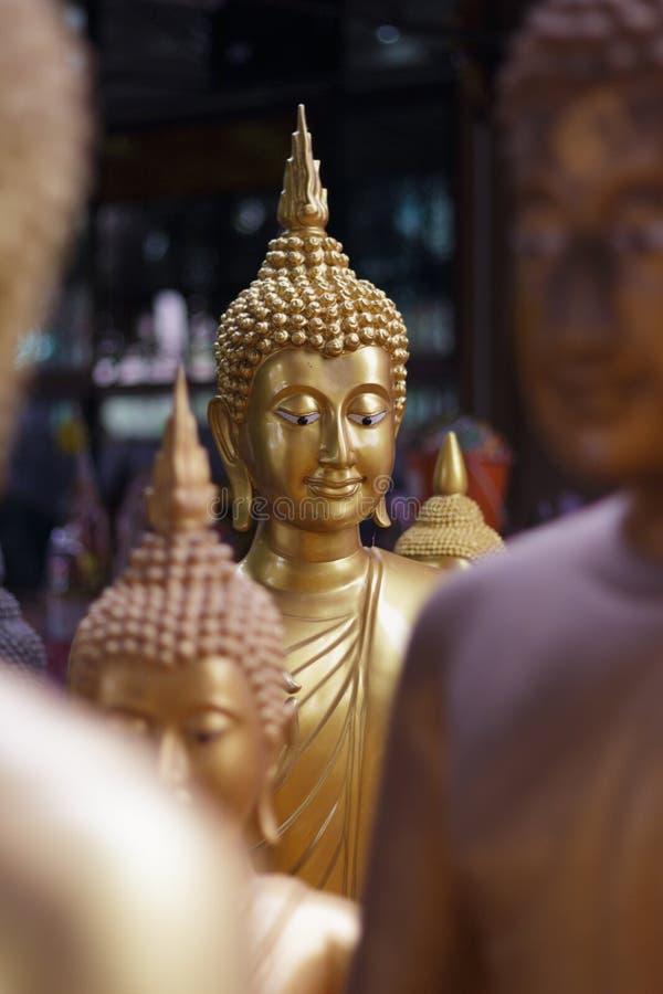 Testa della statua del Buddha fotografia stock