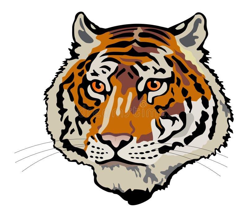 Testa della tigre royalty illustrazione gratis
